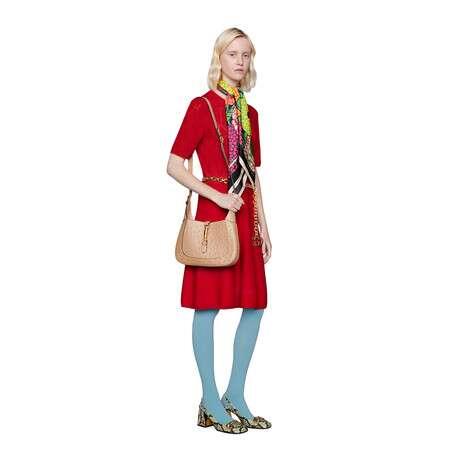 GG镂空羊毛连衣裙