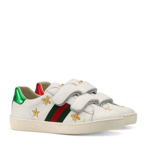儿童蜜蜂和星星图案皮革运动鞋