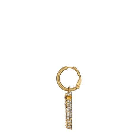 水晶双G钥匙耳环