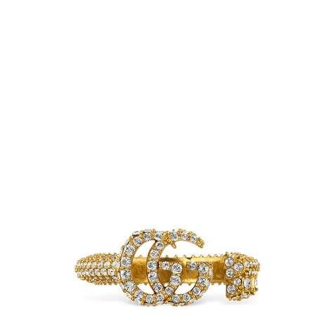 水晶双G钥匙戒指