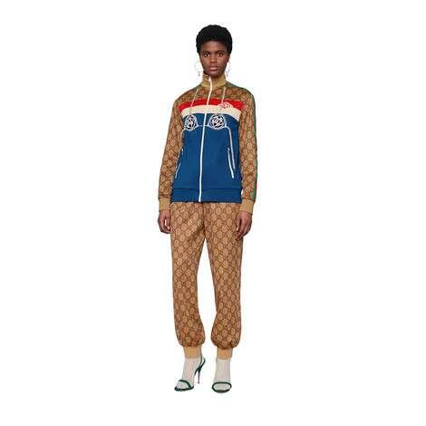 GG 平紋針織慢跑長褲