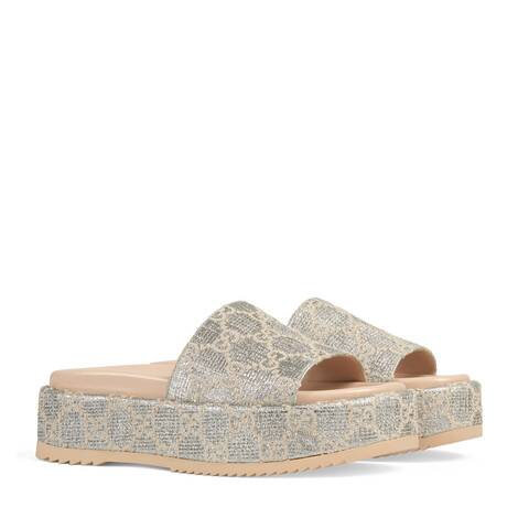 女士GG金银丝线凉拖鞋