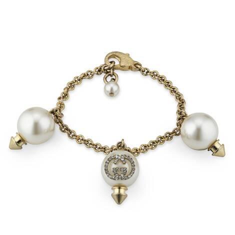 互扣式双G珍珠手镯