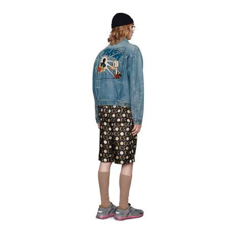 Disney x Gucci唐老鸭刺绣环保水洗牛仔夹克