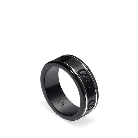 Icon系列18K白金窄版戒指