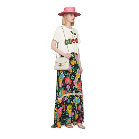 Gucci樱桃印花棉质T恤