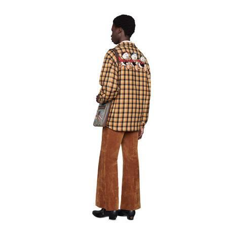 Disney x Gucci格纹羊毛衬衫
