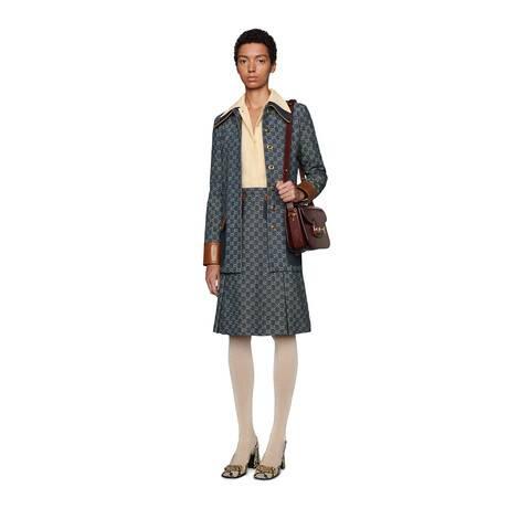 GG Denim系列半身裙