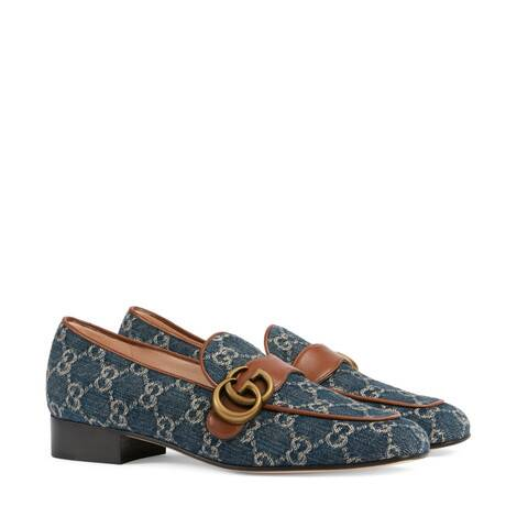 GG Denim系列女士双G乐福鞋