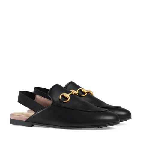 兒童Princetown系列皮革拖鞋