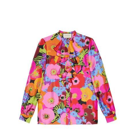 线上专享艺术家Ken Scott印花系列真丝衬衫