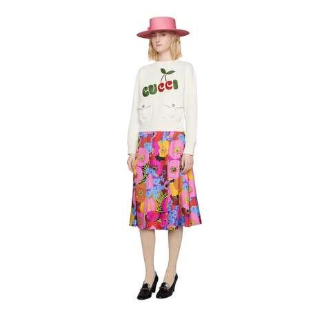 Gucci樱桃印花棉质卫衣