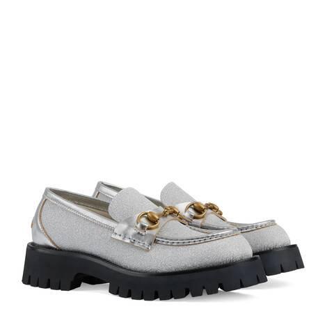 女士沟纹鞋底乐福鞋