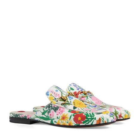 线上专享艺术家Ken Scott印花系列Princetown女士拖鞋