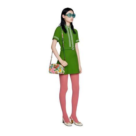 官网专享艺术家Ken Scott印花系列GG Marmont系列小号肩背包