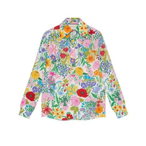 艺术家Ken Scott印花系列真丝衬衫