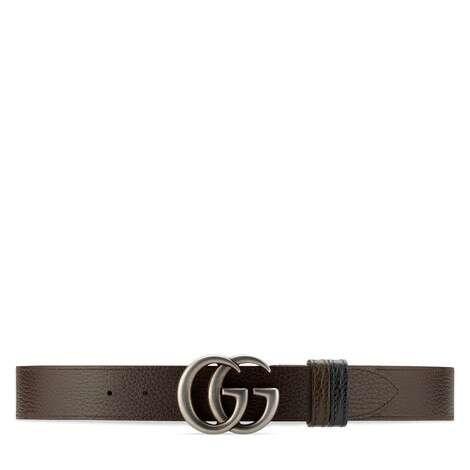双G带扣双面宽版腰带