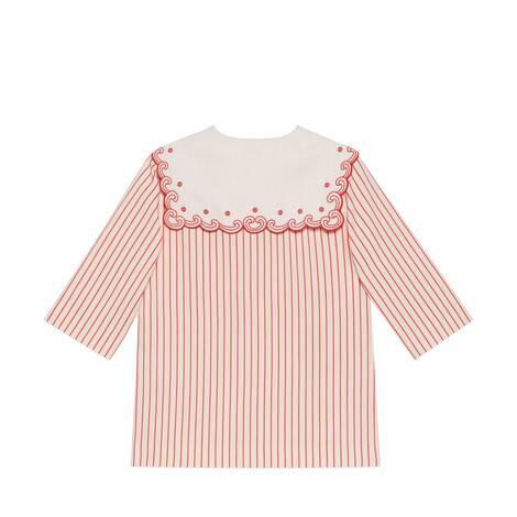 儿童Gucci蘑菇条纹棉质衬衫