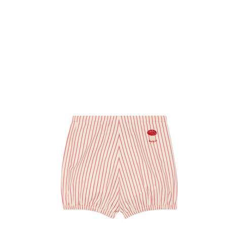 儿童Gucci蘑菇条纹棉布短裤