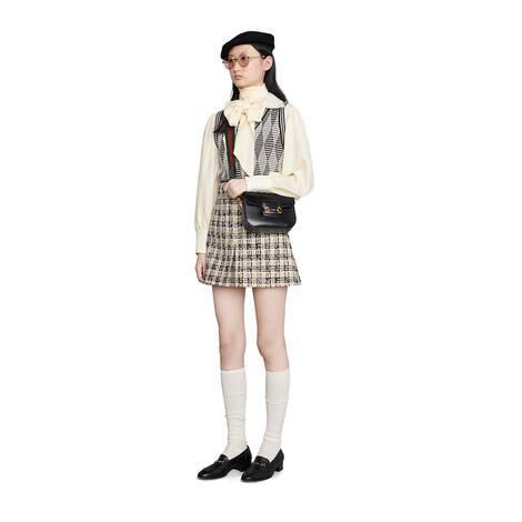 Gucci 馬銜扣1955系列迷你手袋(配可拆卸雙肩帶)