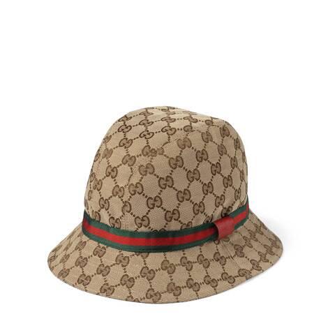 儿童经典GG帆布渔夫帽