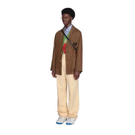 迷你格紋單排扣夾克