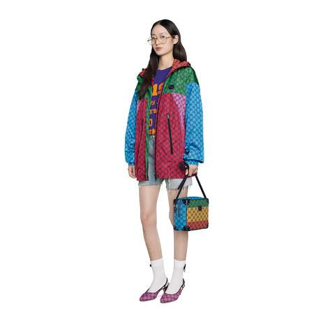 GG Multicolor系列尼龙兜帽夹克