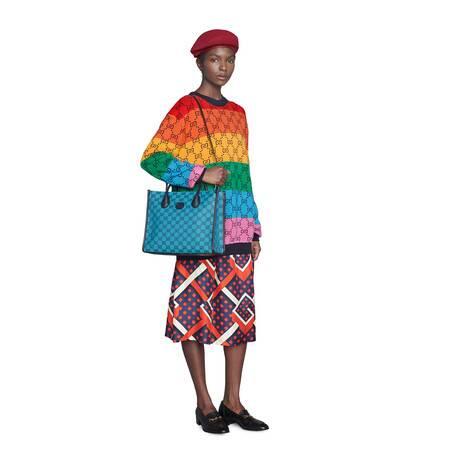 GG Multicolor系列小号托特包