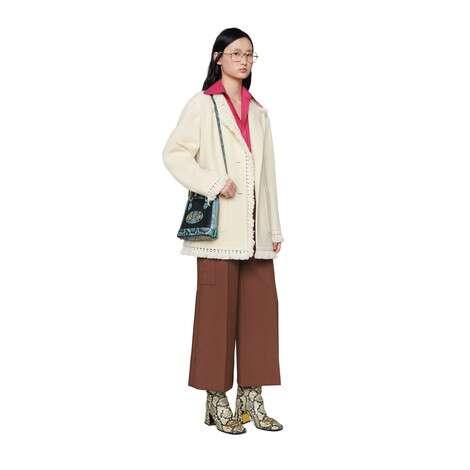 中国专享Gucci 马衔扣1955系列蟒蛇皮迷你手提包