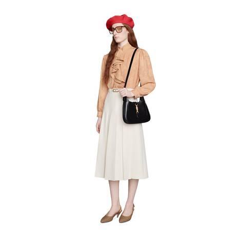 卡迪绉布褶裥半身裙