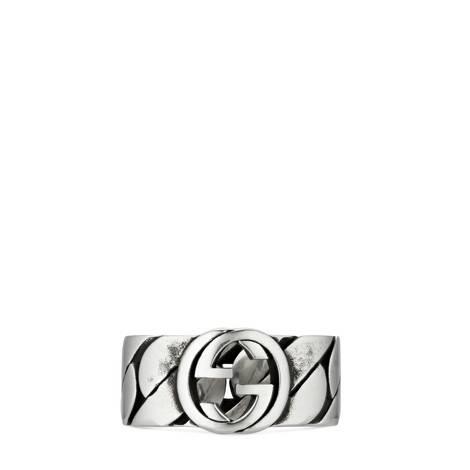 互扣式双G宽版戒指