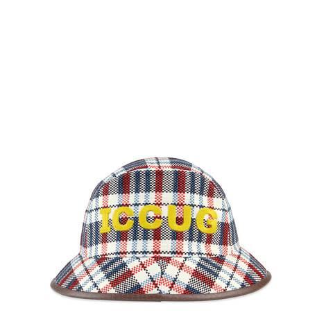 饰皮革ICCUG格纹渔夫帽