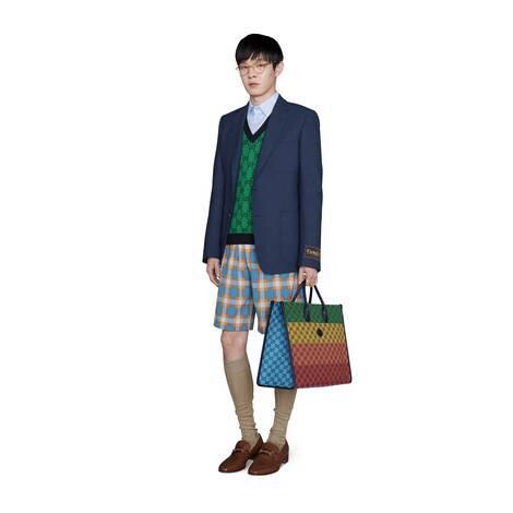 GG Multicolor系列V领毛衣