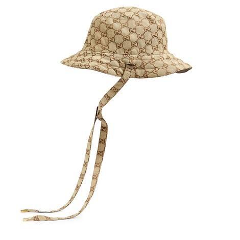 GG帆布和尼龙双面渔夫帽