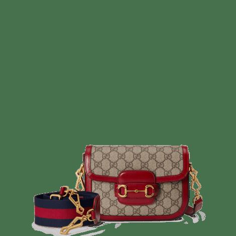 Gucci 马衔扣1955系列迷你手袋(配可拆卸双肩带)
