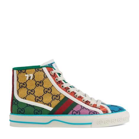 GG Multicolor系列Gucci Tennis 1977女士高帮运动鞋