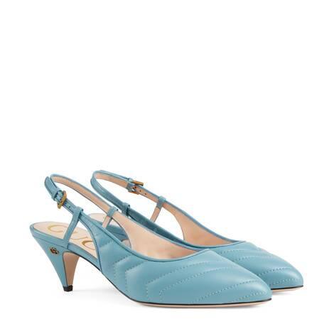 女士绗缝后系带浅口鞋