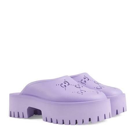 女士镂空G防水台凉鞋