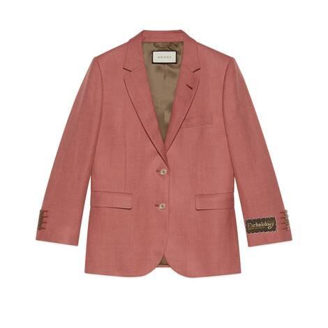 粘胶纤维亚麻单排扣夹克