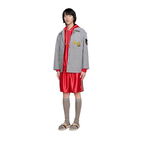 闪亮针织面料织带短裤