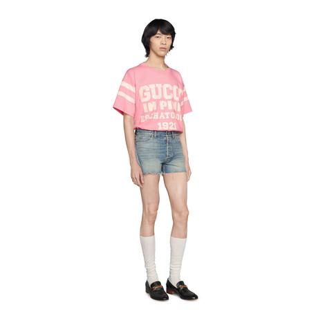 """25 Gucci Eschatology in Pink 1921""印花T恤"
