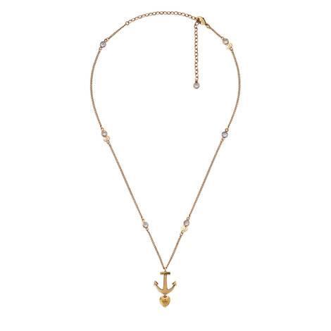 船锚和爱心项链