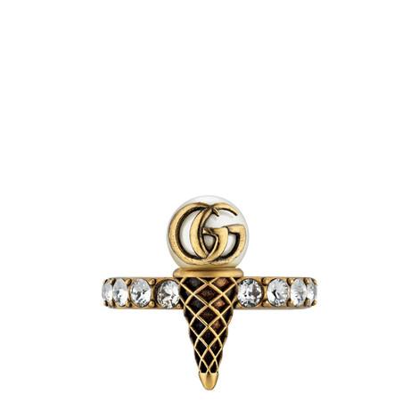 水晶双G冰淇淋造型戒指