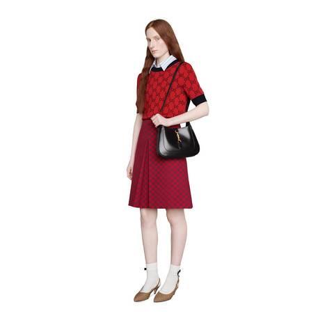古驰520特别系列双G帆布半身裙