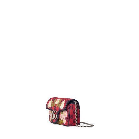 古驰520特别系列GG Marmont系列花卉贴花超迷你手袋