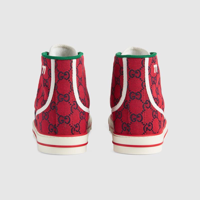 Gucci 古驰520特别系列 Tennis 1977系列男士高帮运动鞋 In Red