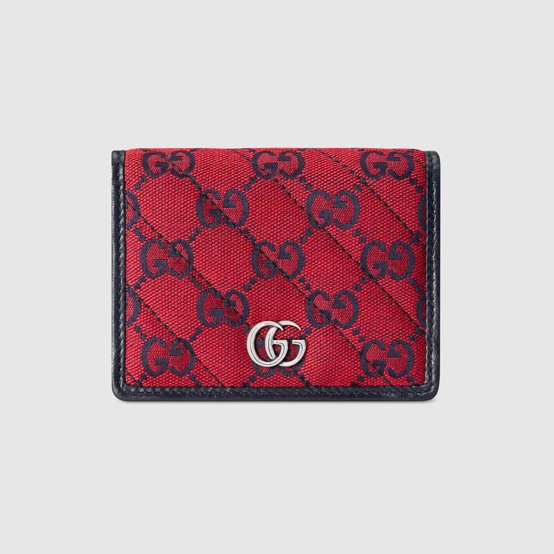 Gucci 古驰520特别系列双g图案卡包 In Red