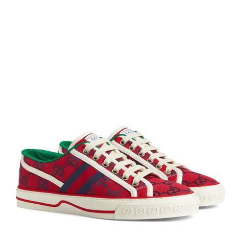 古驰520特别系列Gucci Tennis 1977系列女士运动鞋