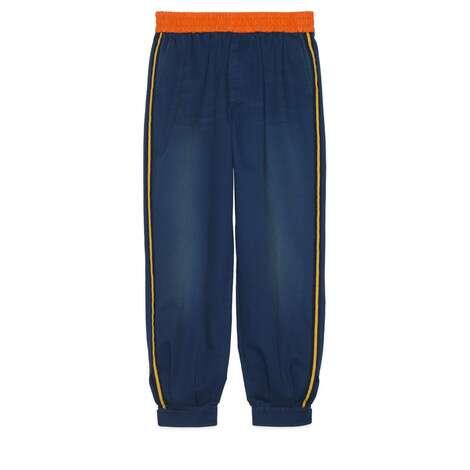 军装风棉质搭扣及踝长裤