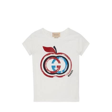 儿童苹果印花棉质T恤